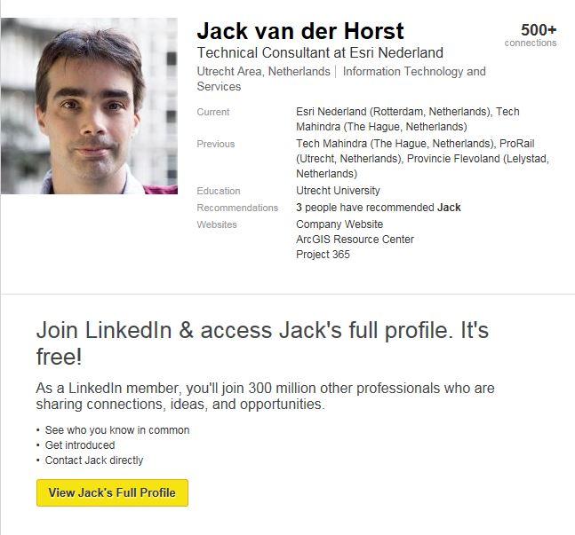 LinkedIn profiel Jack van der Horst